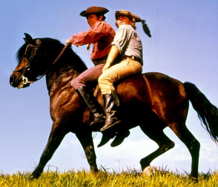escena de Justin morgan had a Horse, película de disney