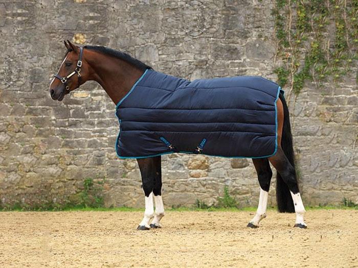 caballo con manta de cuadra invierno