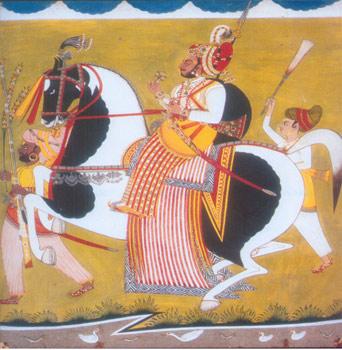 ilustracion milenaria india sobre los caballos marwari