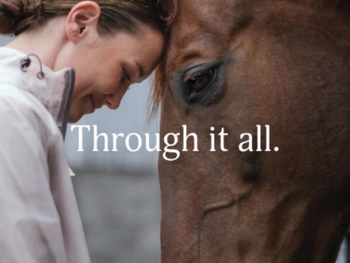 imagen de la campaña thorugh it all de horseware