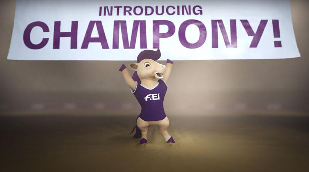 «Champony», la nueva mascota de la FEI