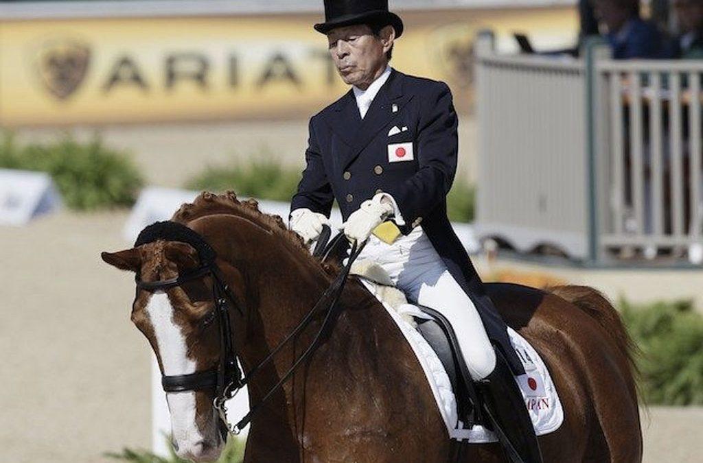 Hiroshi Hoketsu, jinete olímpico más mayor de la historia