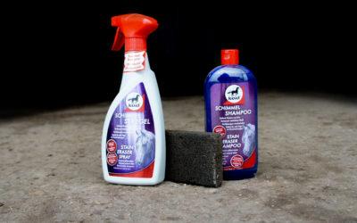 Indispensables en la limpieza de caballos tordos